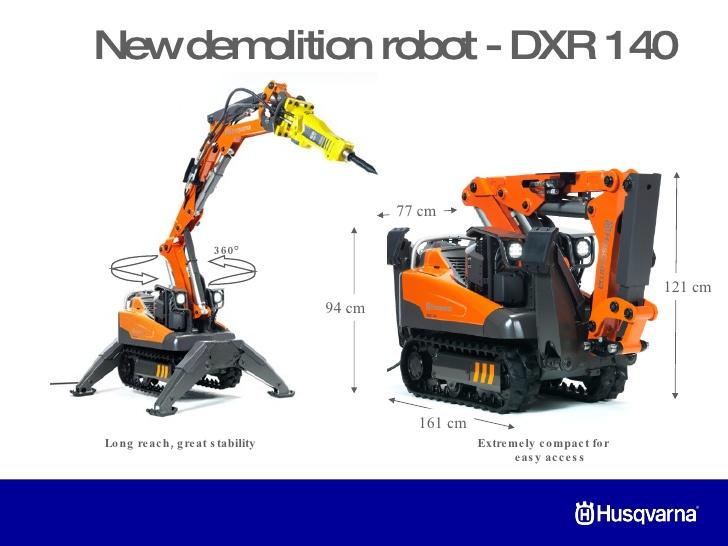Robot Démolisseur DXR 140