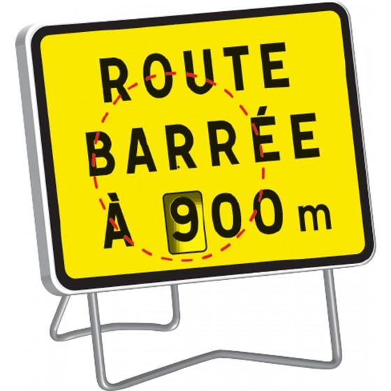 Route Barrée A : de 100 à 900 M